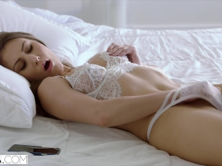 VIXEN Teen Sexts and Gets Dominated By Huge Cock