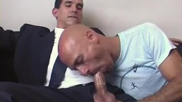 Full video: straight salesman gets sucked by a guy in spite of him.