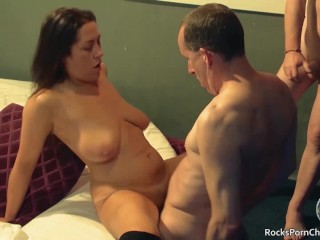 Group fucking, gangbanging and cumming over Tyla Moore