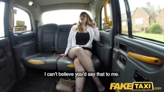 Preview 3 of Fake Taxi Busty passenger gives good tit wank and rides drivers big beard