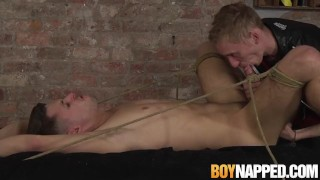 Ass bound gets his master a handjob jock before fucking from serviced twink