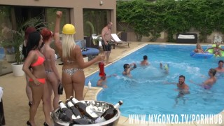 Vegas rosalina jezzi lana with orgy and love more kitty core pool cat party pool