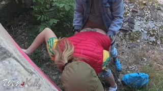 Receive girl fucked graffiti and caught in a cum owner mouth by graffiti pov