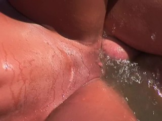 Asian tanned fucked on the beach by cocks...