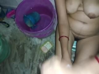 Indian Bhabhi Making Devar Cum on Her Boobs
