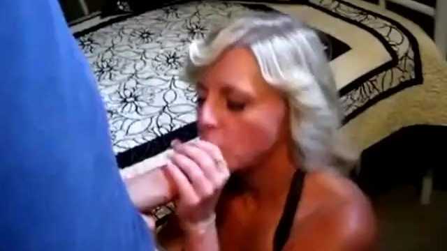 Sexy big tit blonde wife milking a fat cock