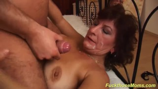 Brutal rough hairy busty mom fucked cock mature
