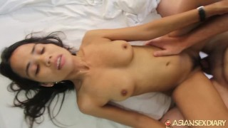 Asian Sex Diary - Big white cock empties load in Filipina cutie  doggy style hairy asian blowjob amateur small tits pov big dick hardcore asiansexdiary brunette cowgirl reality petite filipina cream pie