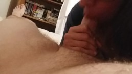 Latina Roommate Sucks Cuck for huge cumshot