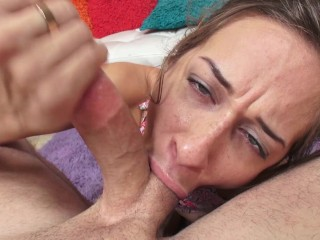 Hot Teen Cassidy Klein Gives a Sloppy Blowjob