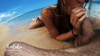 Sex on the Beach! Wild Fucking on an Island - Amateur Couple LeoLulu