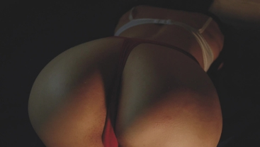 Red thongs in the night. One night stand