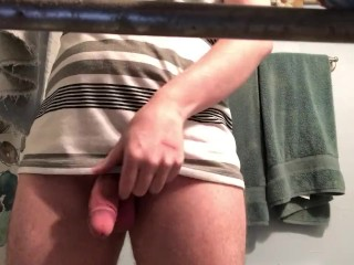 StepSister hides camera while brother takes a piss
