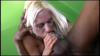 Big Tit Blonde MILF Ashley Chambers Sucks Big Black Cock