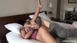 Preview 4 of Tattooed couple non stop orgasm sex vid