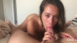 Eva Lovia POV Blowjob Cumshot