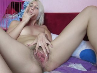 Hairy edging session with timers and close up scenes