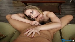 BaDoinkVR.com Blonde Slut Riley Reyes Won't Go Home Without Fucking
