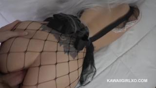 Getting fucked while her booty neko moans big maid kawaii anal