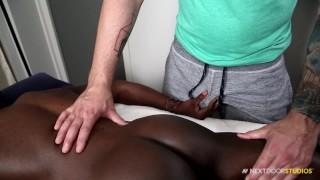Rough Interracial BBC Massage With Bubble Butt White Boy!!
