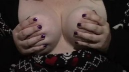 Playing with big tits & nipple clamps!