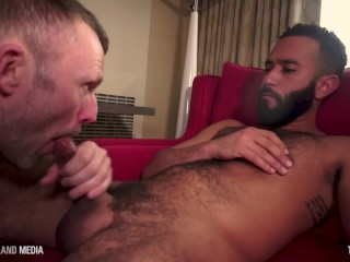 British daddy flew in for a mouth full of cum