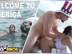 BANGBROS - Jmac Rescues Cuban Refugee Vanessa Sky Off The Coast Of Miami