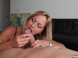 A Big Titty Horny Babe Gets Gang Banged