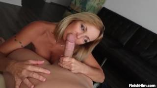 Sexy milf handjob Dick deepthroat