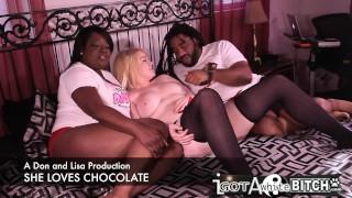 Ebony couple break in a young white slut / Cierra Jade