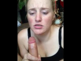 stepmom sucks cock