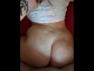 Boyfriend cums inside Big ass Girlfriend