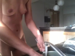 Doing the dishes NUDE, sexy domestic goddess