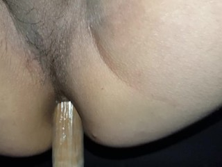 Fucking my dildo, feels so good!