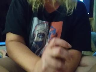 Slippery teasing hand job