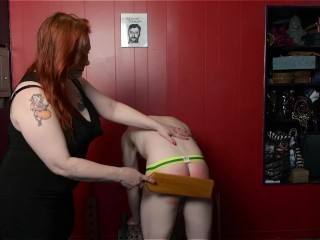 Heidee Nytes Spanks Sub Kevin's ass
