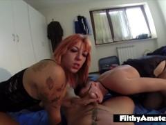 Amateur POV in echter Orgie mit zwei italienischen Mädchen