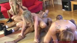 Big Black Cock Orgy Fuck Fest with Barbie Cummings and her slut girlfriends