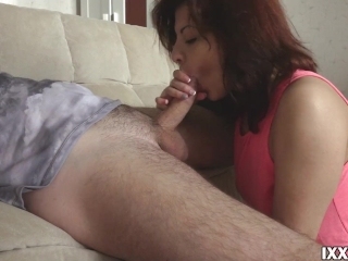 Fucked cutie Rebecca in her pussy at home