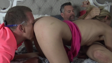 Kayla Kandy Gets Pounded at our house in her first 3 Sum
