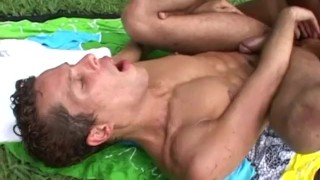 Hunky Outdoor Jizz Shots Facefuck fucking