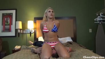 Bratty Blonde Milf Bikini Facesitting