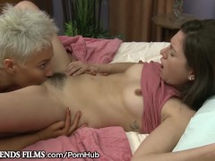 GirlfriendsFilms Blonde MILF Treats Teen Girl Better Than Her Man Can
