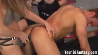 Bisexual Femdom And Cock Sucker Training Videos  ass fuck strapon humiliation femdom pov busty toys bisexual kink anal compilation big boobs bi fantasy