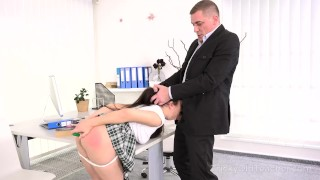 Tricky Old Teacher - Sweetie gets her asshole ruined by an angry teacher Anal reverse