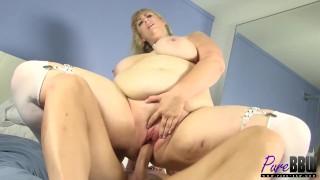 amazon blonde BBW Lila Lovely gets fucked