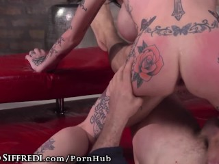 Rocco Siffredi Has Felxible Tattooed Sluts Ride Cock with Assholes!