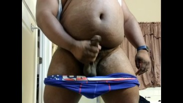 Hard Cumshot From Black Daddy Chub