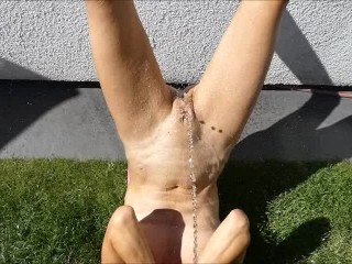 Piss coming out of a dick
