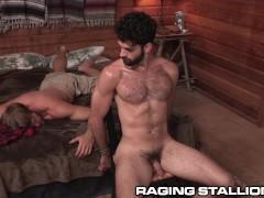 RagingStallion Captive Tegan Zayne gets his Furry Hole Fucked